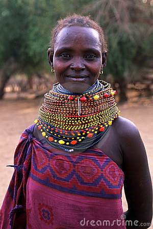 Turkana woman portrait Editorial Photo