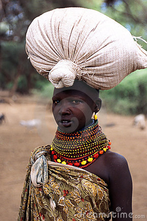 Turkana woman portrait Editorial Stock Photo