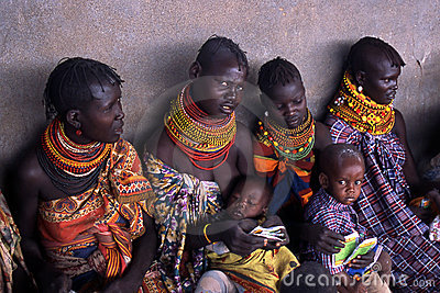 Turkana women and children Editorial Photography