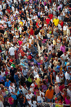 Turkey, Antalya, Crowd of people Editorial Image