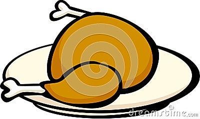 Turkey or chicken in a dish