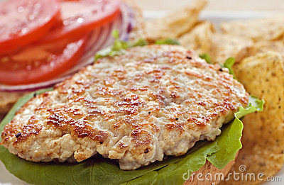 Turkey cutlet tenderized