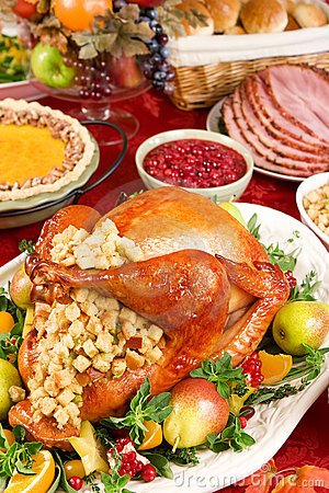 Free Turkey Dinner Royalty Free Stock Photo - 3465875