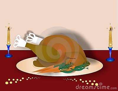 Turkey dinner Illustration