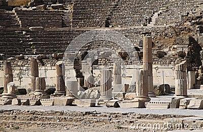 Turkey Ephesus Amphitheater ruins