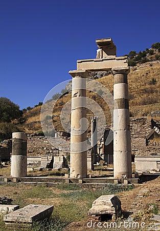 Turkey Ephesus Large standing columns