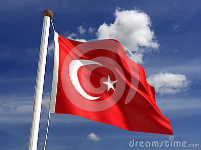 Turkey flag (with clipping path)