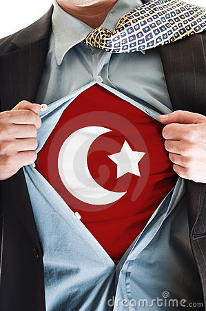Turkey flag on shirt