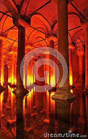 Turkey. Istanbul. Underground basilica cistern