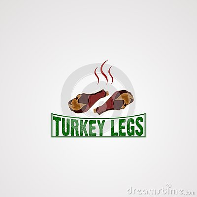 Turkey leg logo vector, icon, element, and template for business Vector Illustration