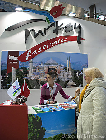Turkey presentation in Belgrade tourism fair Editorial Photo