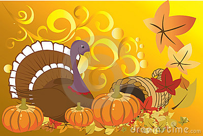 Turkey and pumpkins