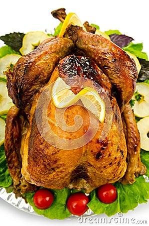 Turkey roasted and served