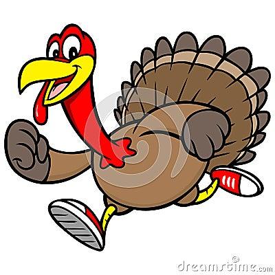 Turkey Run Vector Illustration