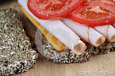 Turkey sandwich closeup