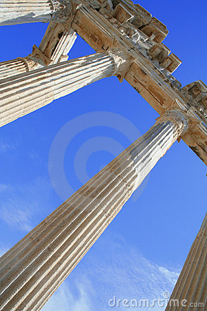 Turkey. Side. Ruins of a temple of Apollo