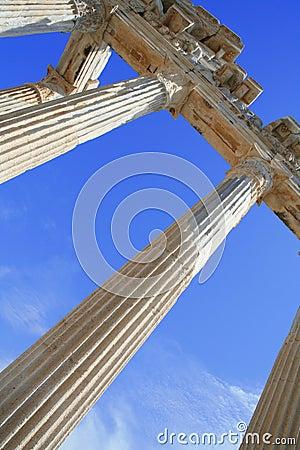 Turkey. Side. Ruins of a temple of Apollo