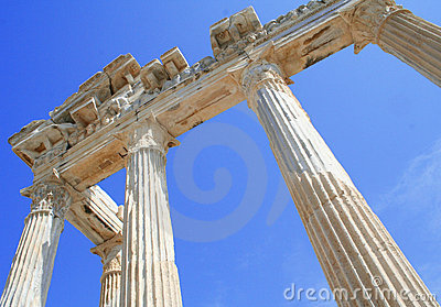 Turkey. Side. Ruins of a temple of Apollo.