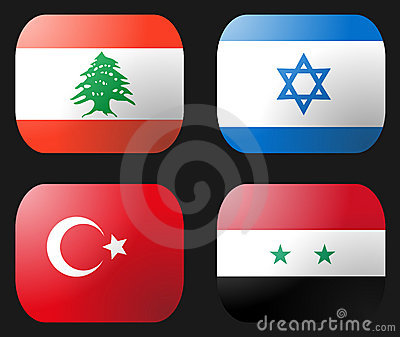Turkey Syria Lebanon Israel Flag