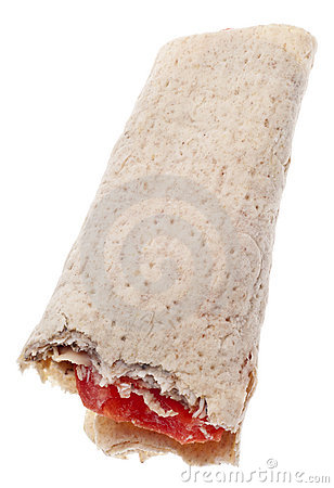 Turkey and Tomato Wrap on Lavash Bread