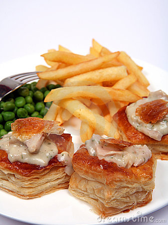 Turkey vol-au-vents macro