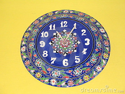 Turkish blue clock