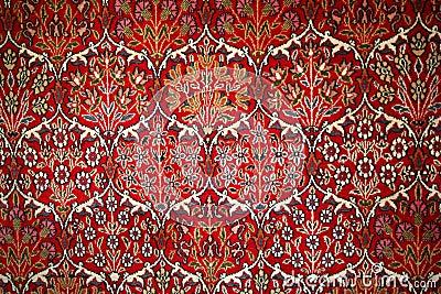 Turkish Carpet With Pattern Royalty Free Stock Image