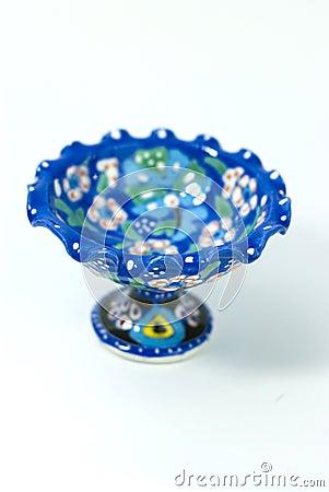 Free Turkish Ceramic Sugar Bowl On The White Stock Images - 20407574