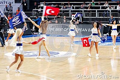 Turkish cheerleaders Editorial Stock Photo