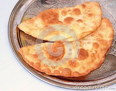 Turkish cheese pie fried in oil ( Cig borek )
