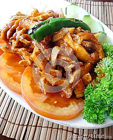 Turkish chicken dish