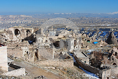 Turkish city in the mountains of Cappadocia
