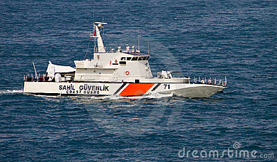 Turkish Coast Guard Boat Editorial Image