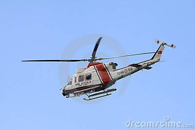 Turkish Coast Guard Helicopter Editorial Image