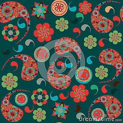 Turkish cucumber  seamless pattern and seamless pa