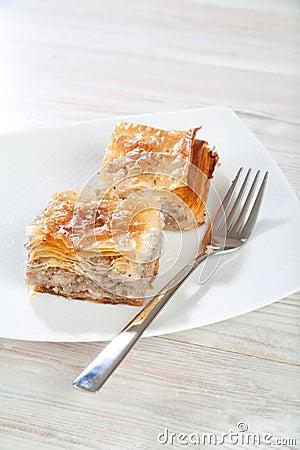 Turkish delicatessen, baklava sweet