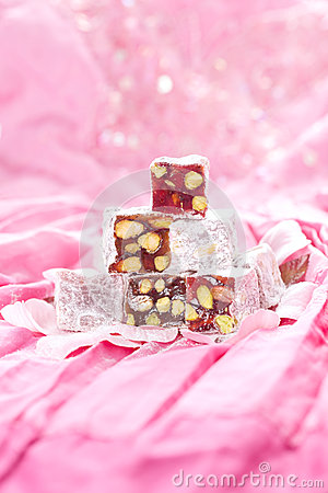 Turkish delight with pistachios nut