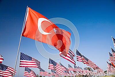 Turkish flag among the 3000