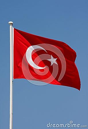 Free Turkish Flag Stock Image - 4917791