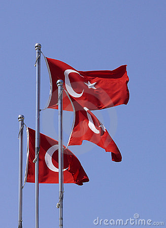 Free Turkish Flags Stock Images - 5648504