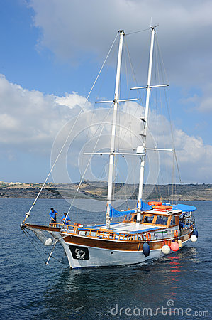 Turkish Gulet yacht, Malta. Editorial Photo
