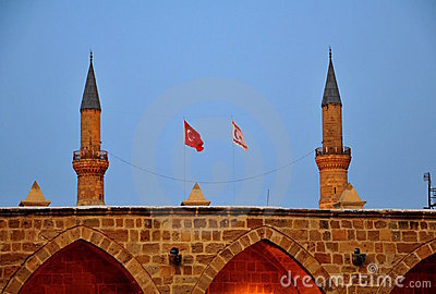 A Turkish half-moon symbols and flags of Turkey