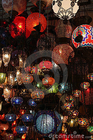 Turkish lamps in Grand Bazaar,
