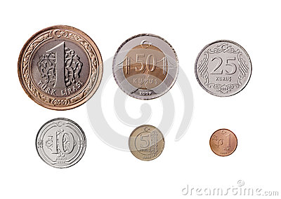Turkish Lira Coins Set
