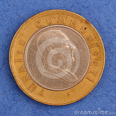 Turkish metal coin