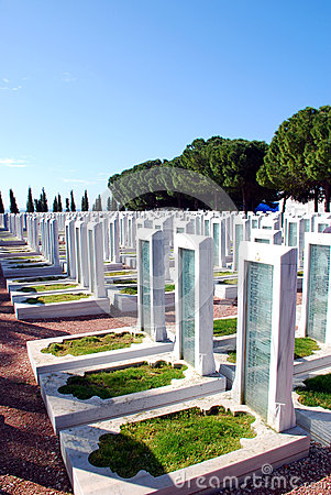 Turkish Military Cemetery Editorial Photography