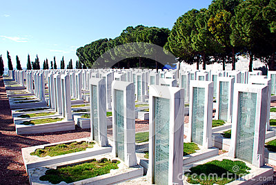 Turkish Military Cemetery Editorial Image