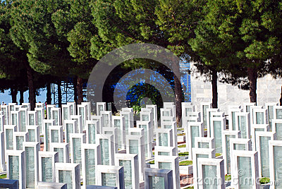 Turkish Military Cemetery Editorial Photo