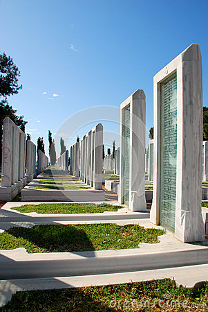 Turkish Military Cemetery Editorial Stock Image