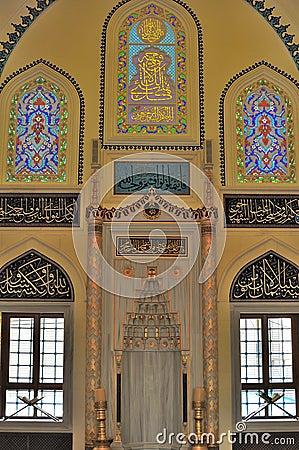 Turkish mosque interior design